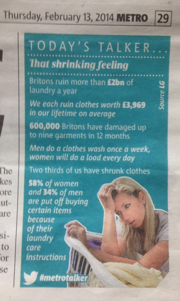 Today's talker - METRO LAUNDRY