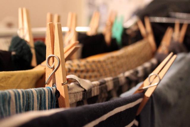 laundry hanging